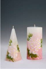 On this image you might see handpainted pyramidcandles, ball candles, cylindric candles, christmas candles or marriage candles